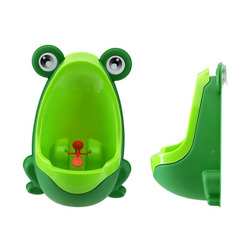 Bô tiểu gắn tường cho bé hình ếch kèm tặng 1 móc dán trong suốt