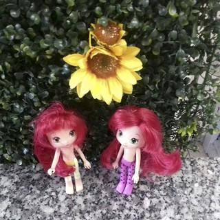 Búp Bê Dâu Tây 15 cm có tóc, mùi thơm nhẹ chính hãng – Strawberry Shortcake 6 inch (quần áo ngẫu nhiên)- Tóc đỏ)