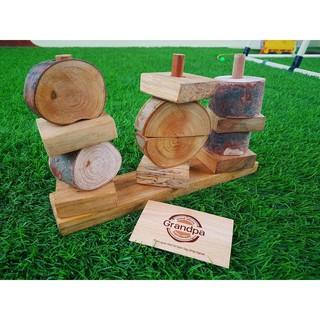 Xếp tháp gỗ mộc – Mẫu 4