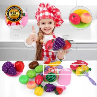 Safe Girl Toys Food Cut Toy Cut Fruit Kitchen Toys Kids Pretend Play Toys Educational Toys