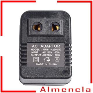 [ALMENCLA] NEW Universal Travel AC Power Charger Adapter Converter Black 110V to 220V