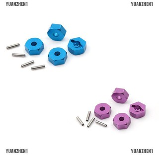 {YUANZHEN1}4pcs Aluminum Wheel Hex Nut 12MM With Pins Drive Hubs HSP 1/10 Upgrad
