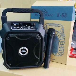 [Mã ELMS5 giảm 7% đơn 300K] Loa karaoke bluetooth mini du lịch kiomic k68 kèm micro không dây