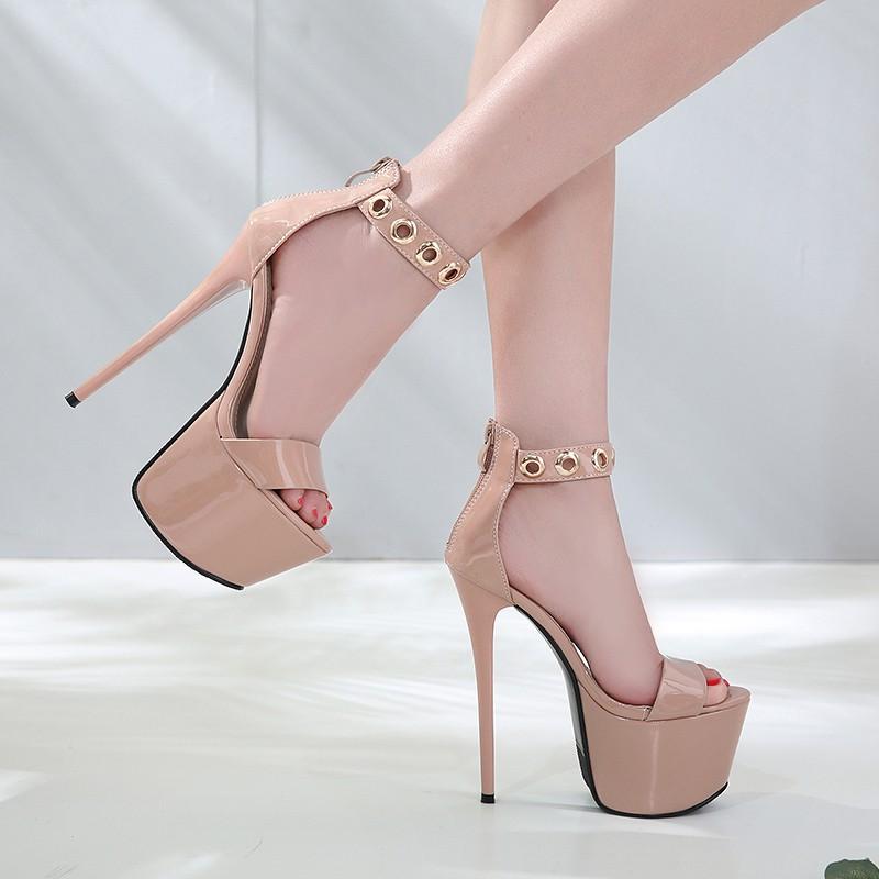 A451 giầy cao gót,gót nhọn 17cm chất da bóng sang chảnh | Shopee Việt Nam