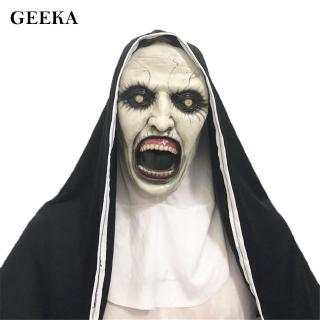The Nun Horror Mask Scary For Cosplay Costume Latex Mask Evil Masks Delicate