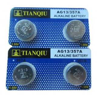 Pin AG13 vỉ 10 viên I Pin cho đèn PIN và Đồng hồ