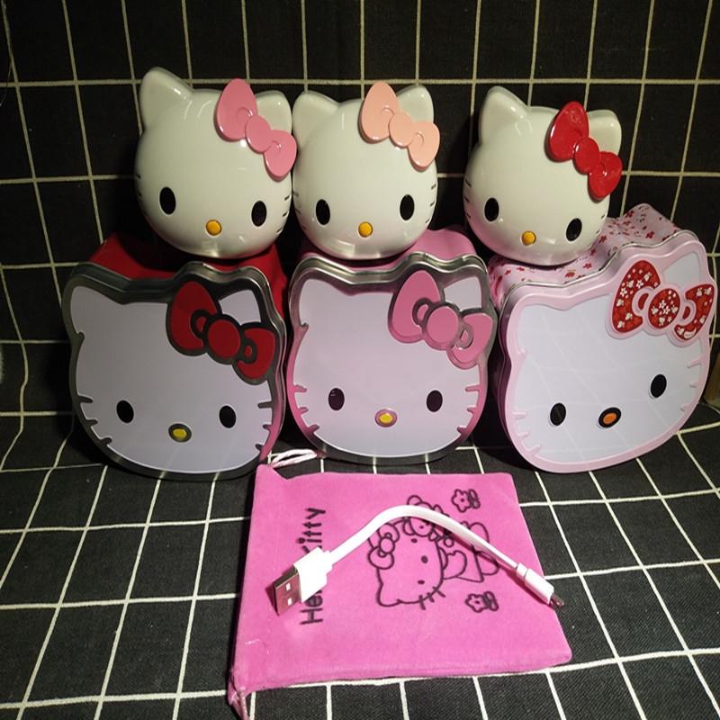 Cute Ready Stock 12000 mAh Portable Cartoon Mobile phone universal charging treasure Gift Hello kitty Mobile Power