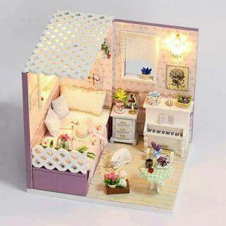 Mô hình nhà gỗ búp bê dollhouse DIY – M007A Spring Love