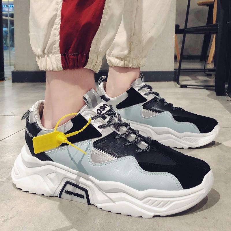 Giày Nam Đế Đúc, Sneaker Nam Full Phản Quang, Tăng Chiều Cao 6cm - M81