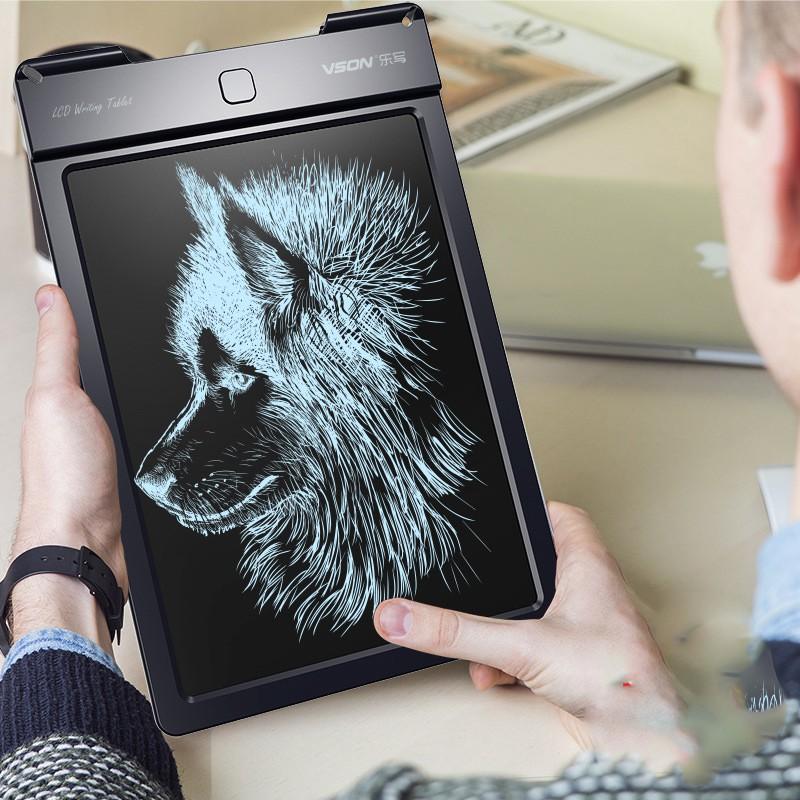 Bảng viết, vẽ điện tử thông minh VSON 13 inch (cỡ lớn) có nút chống xóa khi viết, nét vẽ rõ và đậm