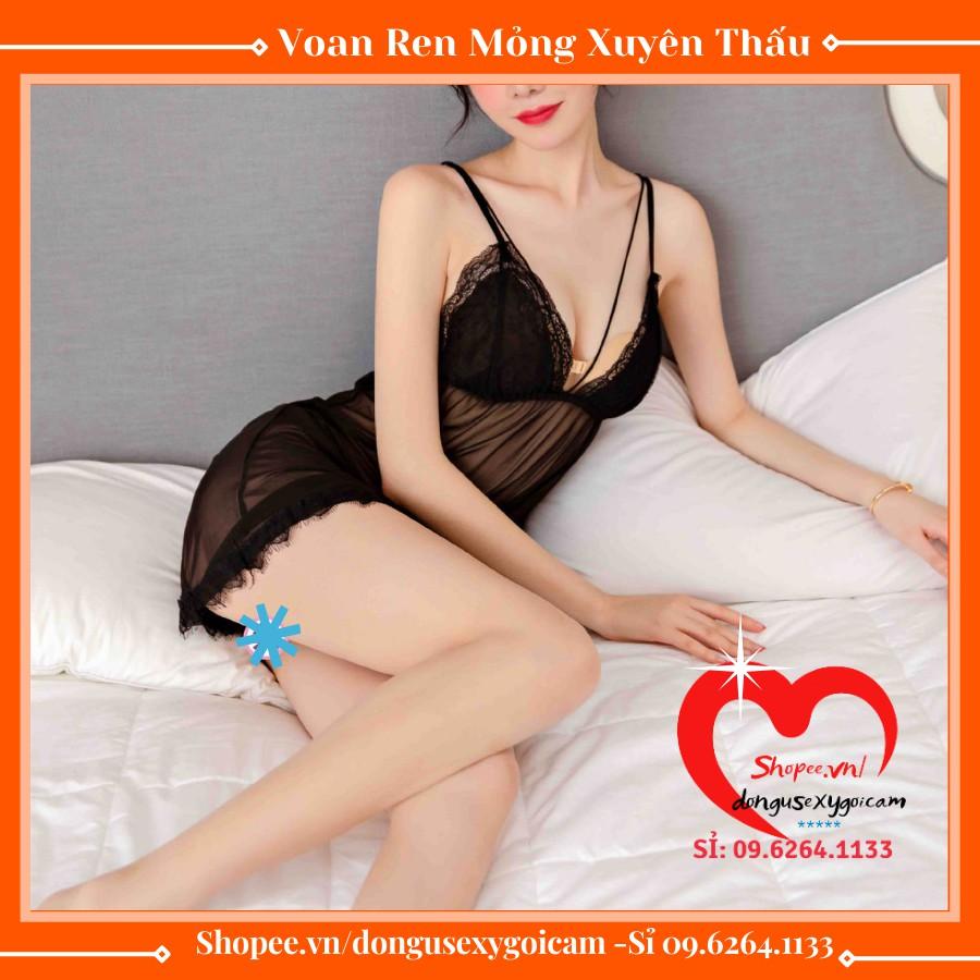 Mặc gì đẹp: Ngủ ngon hơn với Váy Ngủ Sexy 2 Dây Ren Lụa Gợi Cảm Bigsize Mỏng Dễ Thương Xuyên Thấu  Đồ Ngủ Quần Lọt Khe Nữ Sexy Mới