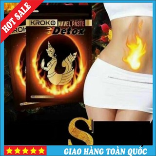 (Chính Hãng) Miếng Dán Tan Mỡ Bụng Kroko Detox Thái Lan Navel Paste