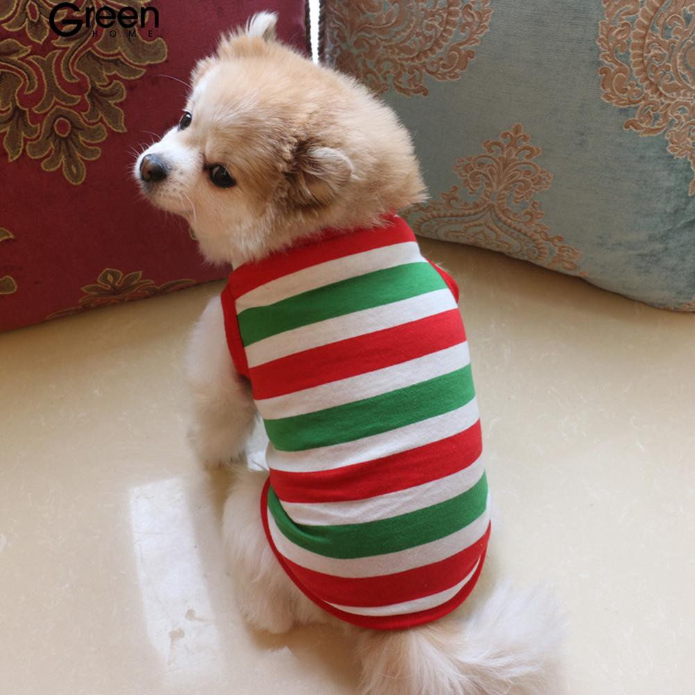 Fashion Colorful Stripe Pet Clothes Summer Vest Tank Top Sports Dog Apparel Gift