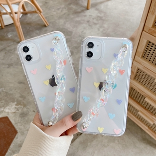 Chain Love IPhone11 Pro 7/8plus X/XS XR XSMAX Mobile Phone Case Portable Apple All-inclusive Camera Protective Cover