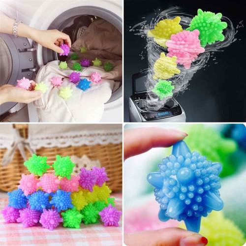 Bóng giặt cầu gai giặt đồ máy nước giặt xả tẩy siêu sạch bột bẩn chống nhăn phẳng quần áo thông minh