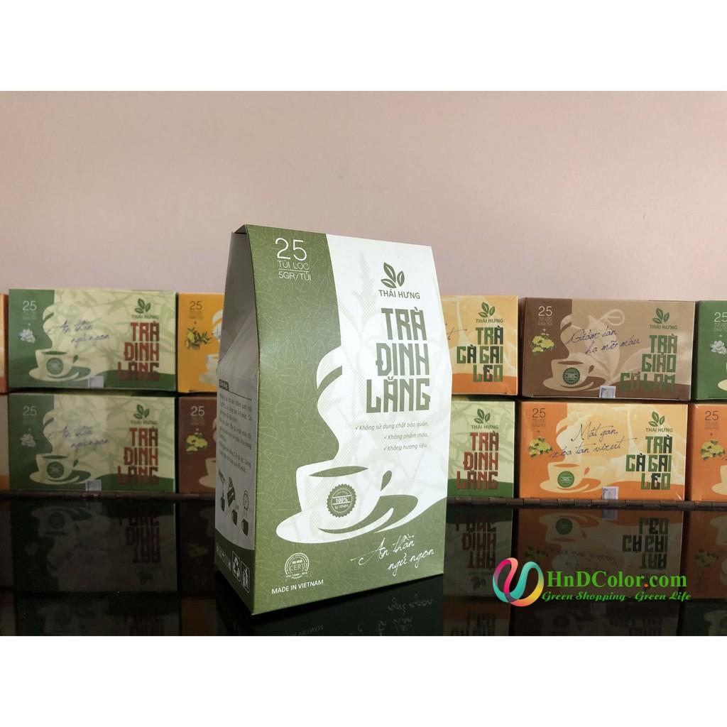 [CHÍNH HÃNG] Trà Đinh Lăng Thái Hưng (trà thảo dược,100% tự nhiên, dạng túi)- tăng tuần hoàn não, giảm đau đầu, ngủ ngon