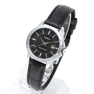 Đồng hồ nữ dây da Casio chính hãng Anh Khuê LTP-V004L-1AUDF