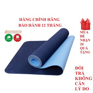 Yêu ThíchThảm yoga, thảm tập gym 2 lớp 6mm – thảm chính hãng Eco Friendly - bảo hành 365 ngày