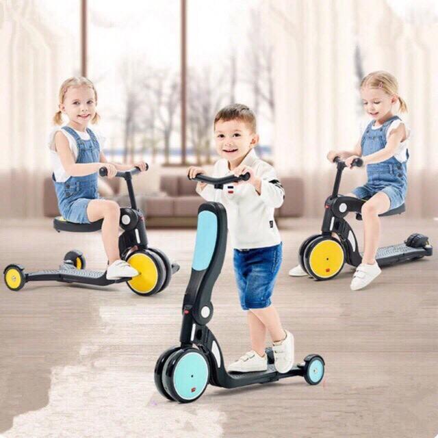 Xe đa năng 5 trong 1 FreeKids cho bé từ 1,5 – 6 tuổi Đủ Màu Sắc