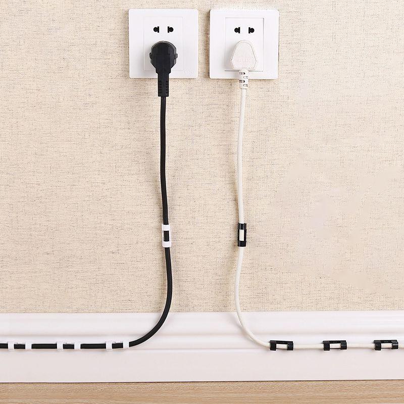 [VỈ 16 KEO 3M MỚI] Nẹp Cố Định Dây Điện Kẹp Giữ Cáp Sạc Nẹp Dây Điện Chống Rối Dán Tường