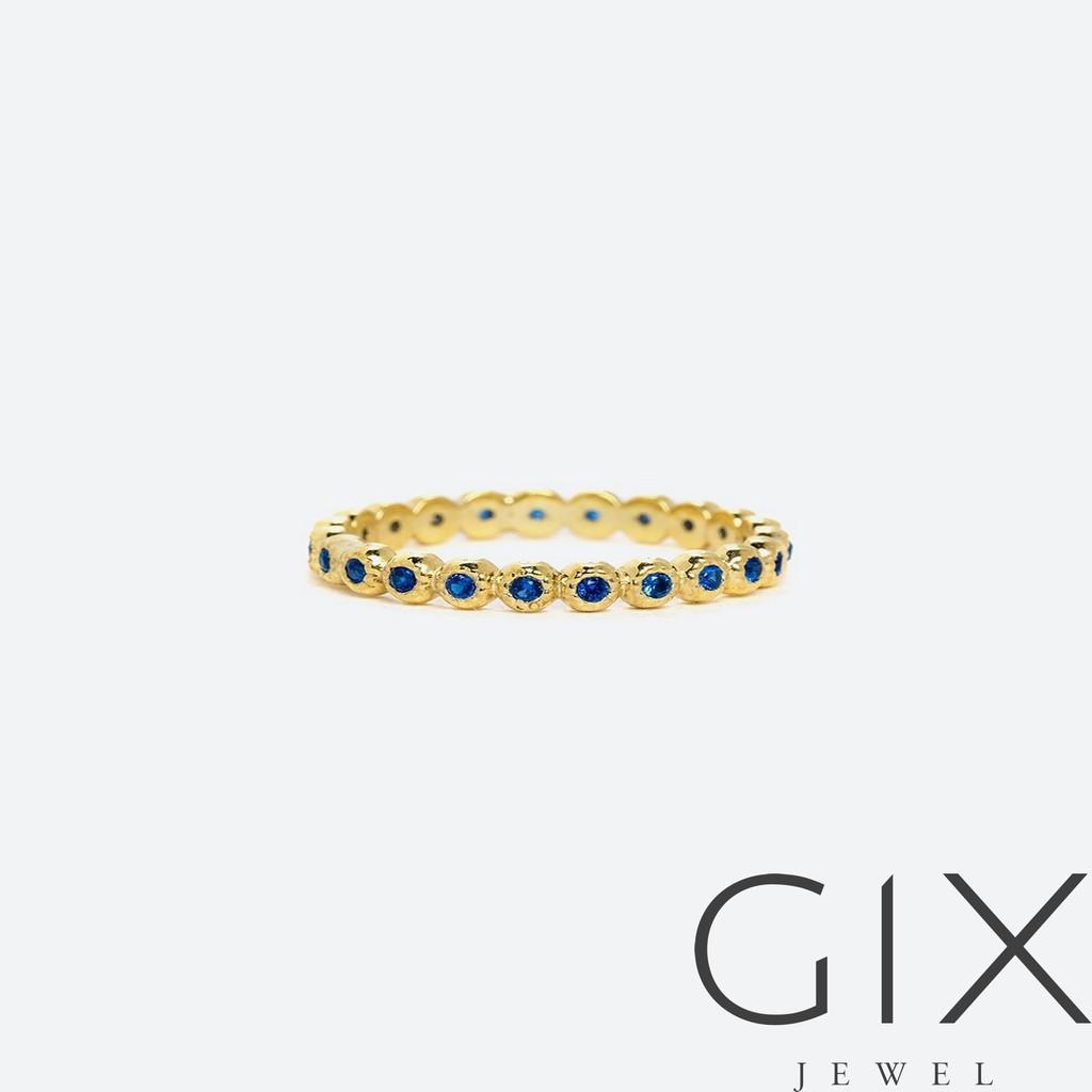 Nhẫn full đai 3 màu - XANH