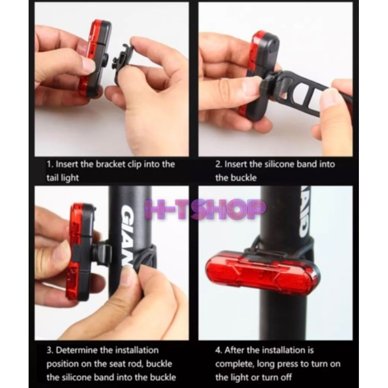 Đèn LED hậu xe đạp USB mẫu mới 2020