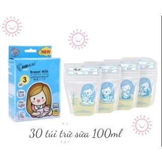 Hộp 30 túi trữ sữa Sunmum dung tích 100ml