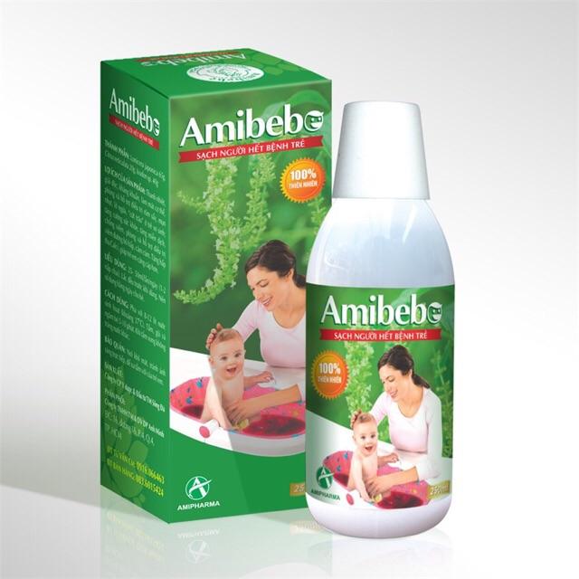 Nước tắm trị rôm sẩy cho bé Amibebe