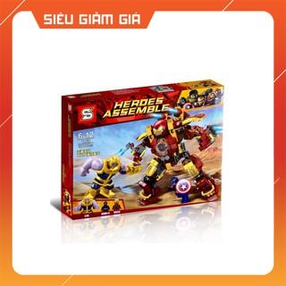 Lego Super Hero Lắp Ráp Mô Hình Người Sắt Iron Man Chiến Đấu Với Thanos MK46 371 Khối SY1108