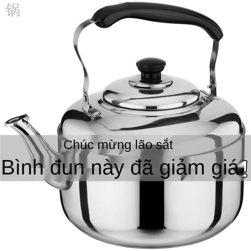 RẤm đun nước inox, dung tích lớn, âm dày, ấm đun nước, ấm đun nước, bếp từ, bếp ga