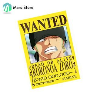 Tờ Truy Nã One Piece 2020 Mới Nhất – A3 – A4