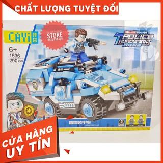 [HOT] Lego CAYI-1536 Lắp Ráp Xe Cảnh Sát Cơ Động – Police Thunder ( 290 Mảnh )