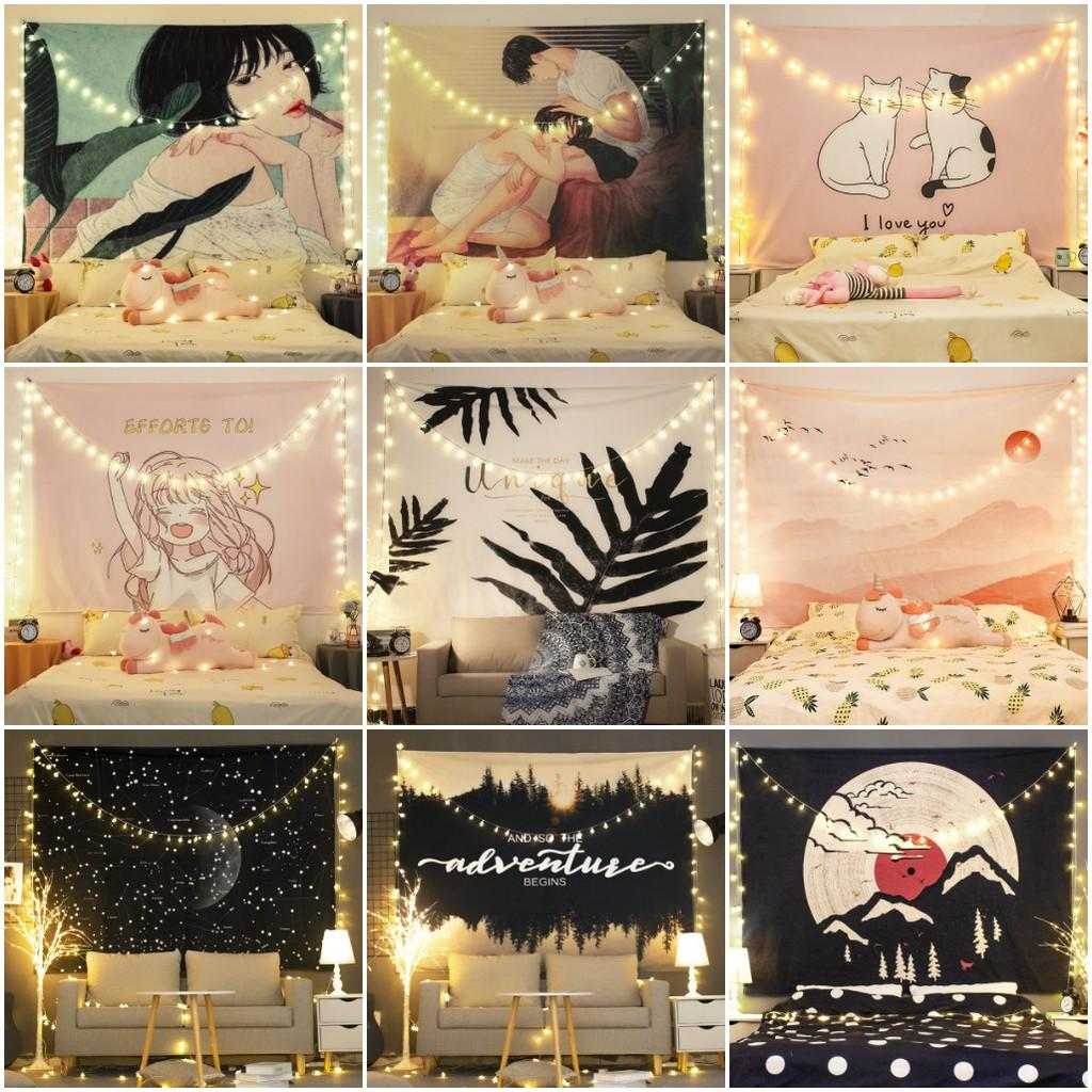 Tranh vải treo tường size to tặng móc treo, thảm treo tường decor phòng ngủ đẹp