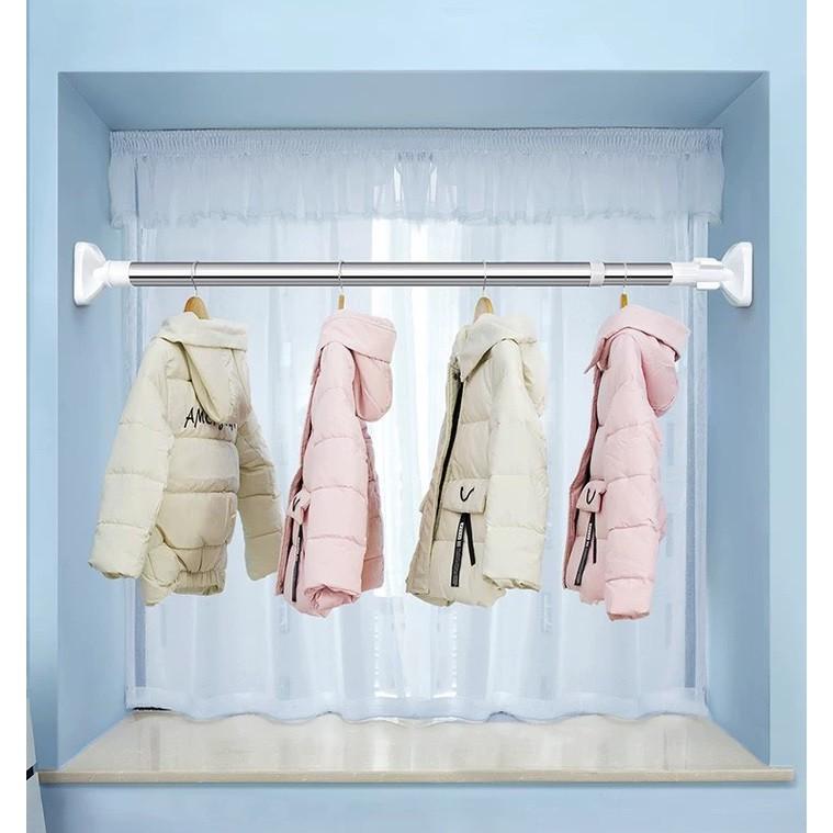 Thanh treo đa năng inox không cần khoan tường treo rèm treo quần áo
