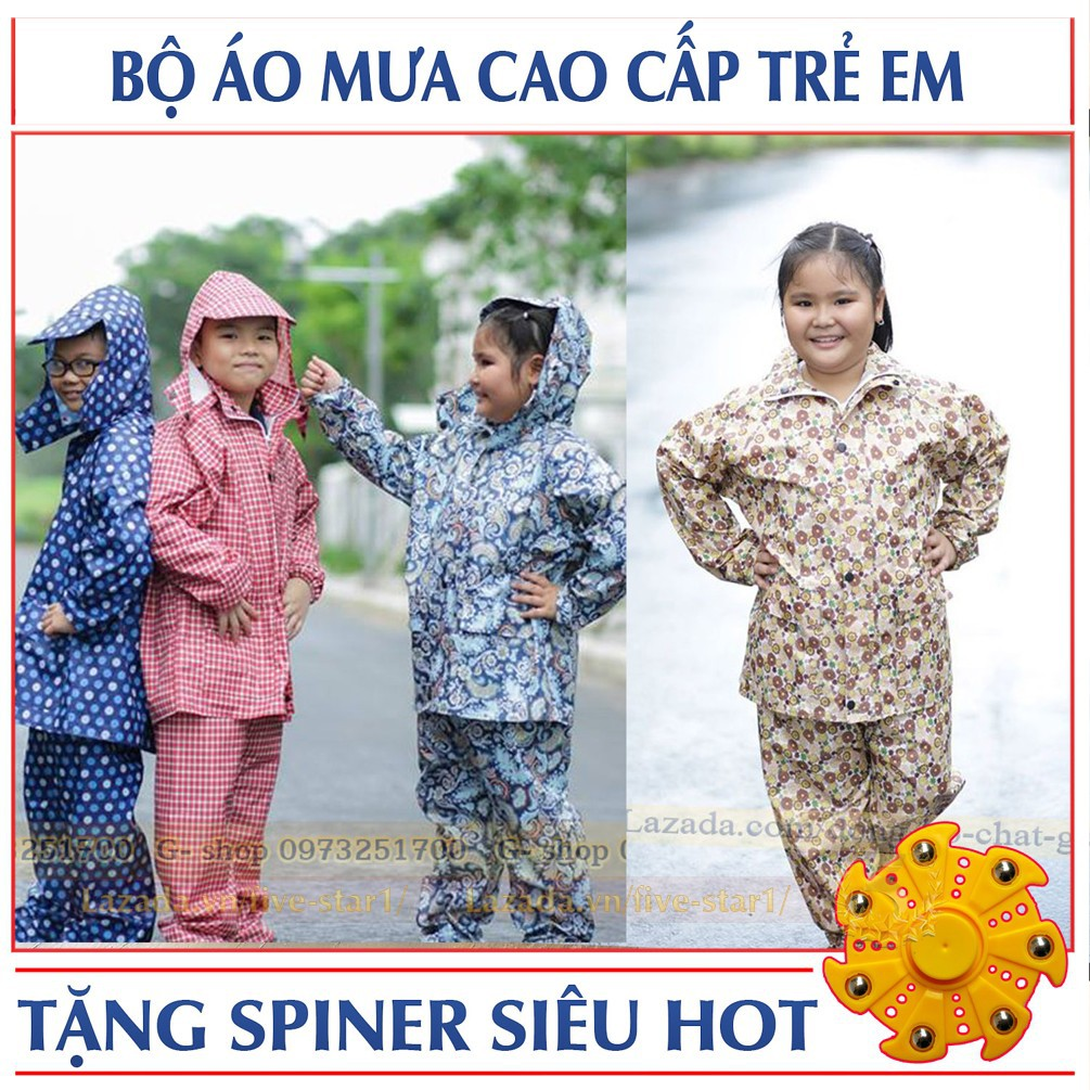 Bộ quần áo mưa trẻ em Cao cấp :Siêu Nhẹ + Siêu bền + Tặng FREE SPINER CHO BÉ - 2890089 , 522969344 , 322_522969344 , 119000 , Bo-quan-ao-mua-tre-em-Cao-cap-Sieu-Nhe-Sieu-ben-Tang-FREE-SPINER-CHO-BE-322_522969344 , shopee.vn , Bộ quần áo mưa trẻ em Cao cấp :Siêu Nhẹ + Siêu bền + Tặng FREE SPINER CHO BÉ