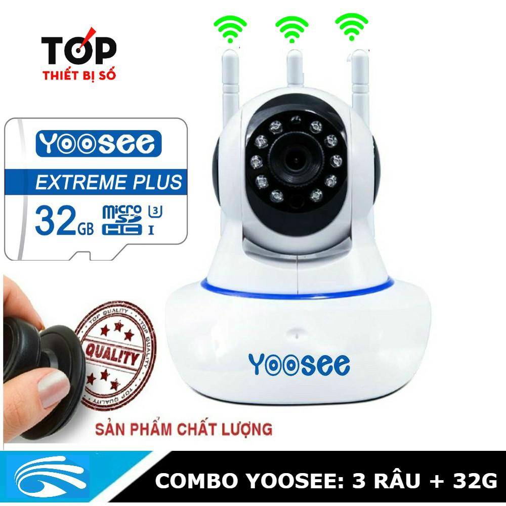 [Combo] Camera yoosee 3 anten kèm thẻ 32G