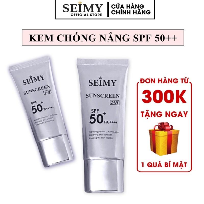 Kem chống nắng dưỡng da dưỡng trắng Seimy - Sunscreen 24h