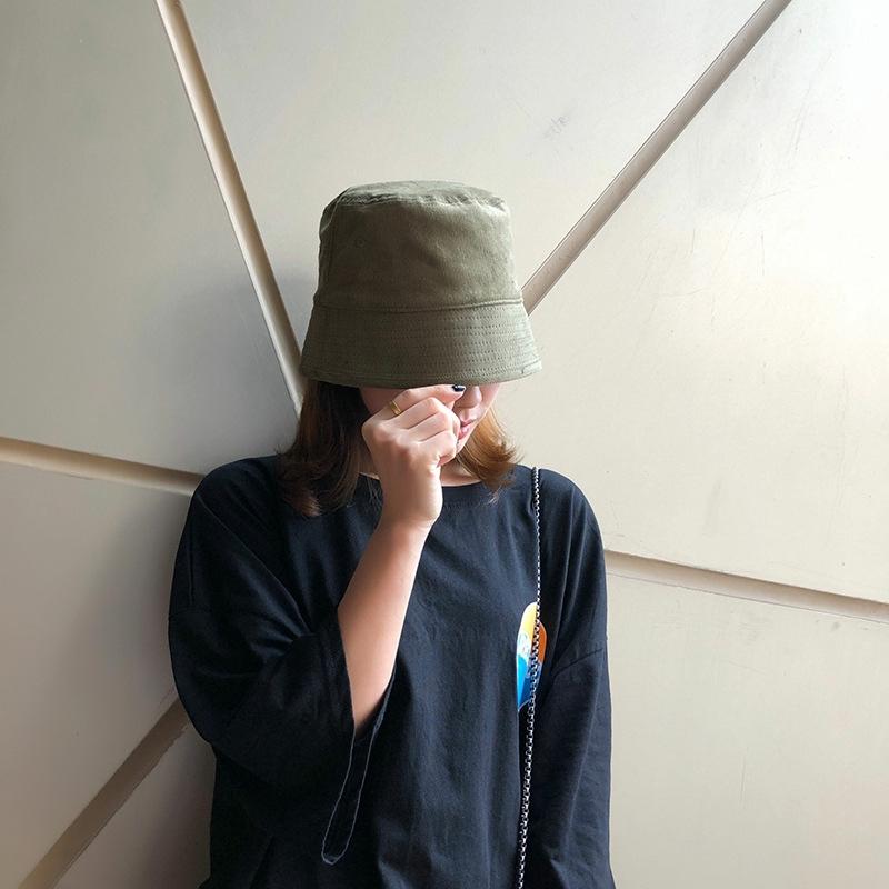 [Mã CBMAR29 giảm 10K đơn 0đ] Mũ vành tròn màu trơn kiểu dáng trẻ trung phong cách Hàn Quốc hợp thời trang