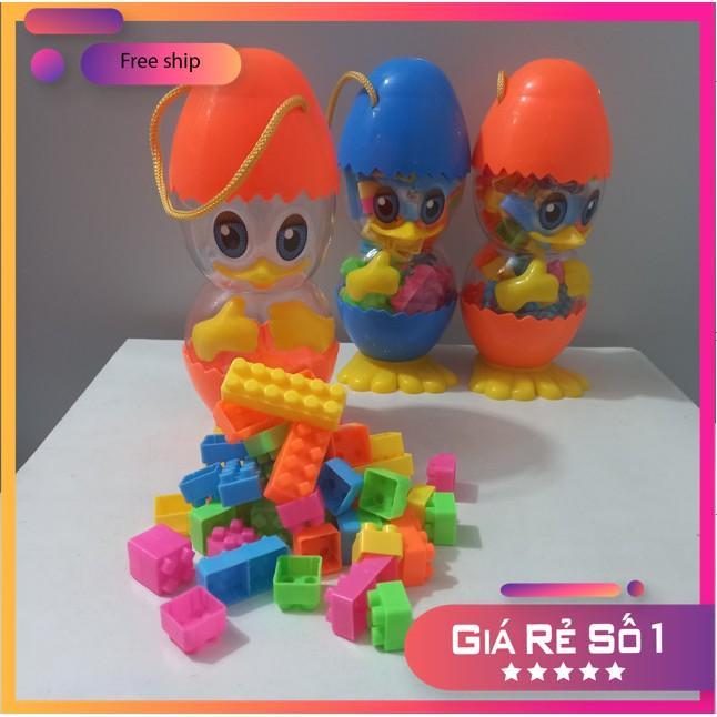 Đồ chơi lắp ráp 💥FREESHIP💥có hộp đựng hình con vịt siêu dễ thương