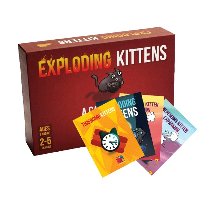 Set Nổ Tưng Bừng: Combo Mèo nổ - Exploding Kittens và 4 Bản mở rộng