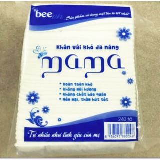 Combo 5 bịch khăn vải khô đa năng mama 240 tờ