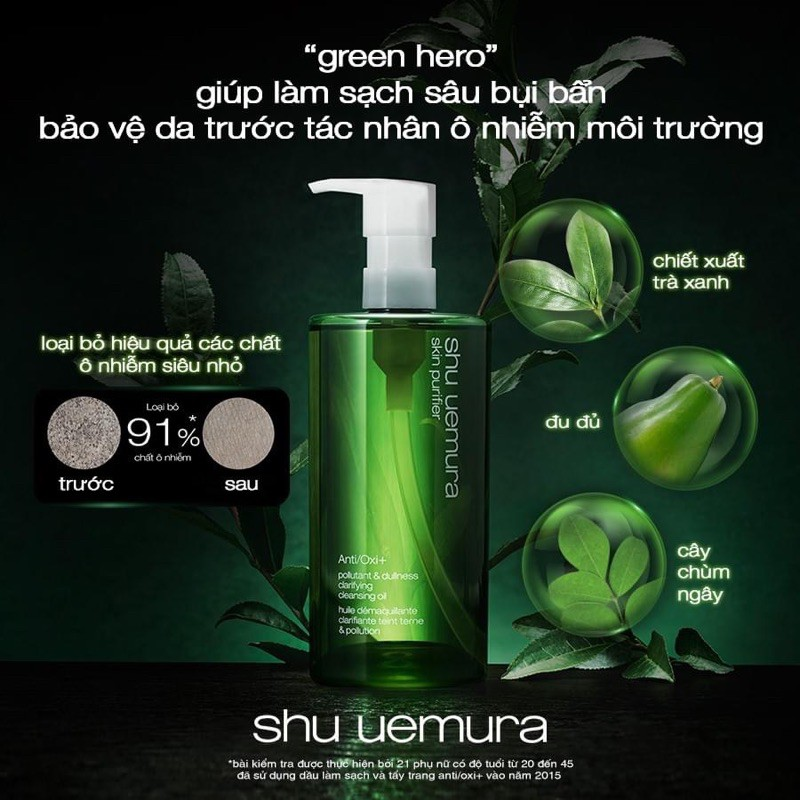 Tẩy trang Shu Uemura Anti/ Oxi+