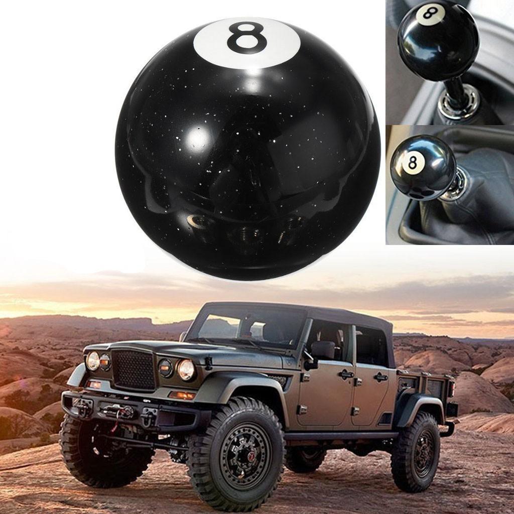 M12x1.25 Threaded 8 Ball Billiard Car Manual Gear Shift Lever Shifter Knob
