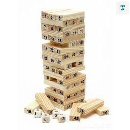 Bộ đồ chơi rút gỗ 54 thanh mini 2021