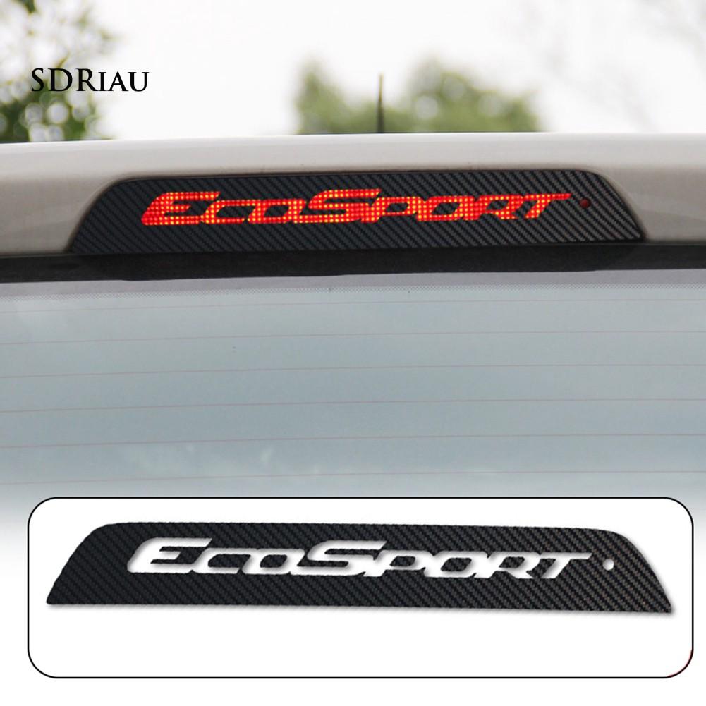 Miếng Dán Đèn Phanh Xe Hơi Ford Ecosport Chất Liệu Sợi Carbon