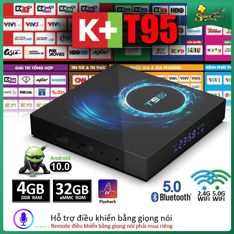 Hộp TV T95 Android 10 4G 64GB 32GB Allwinner H616 1080P H.265 4K Android 10.0