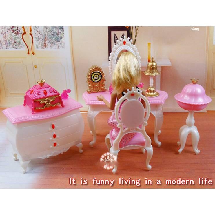 Bàn trang điểm, đồ chơi trong nhà cho búp bê nội thất cho búp bê Barbie,búp bê Xinyi,búp bê Licca