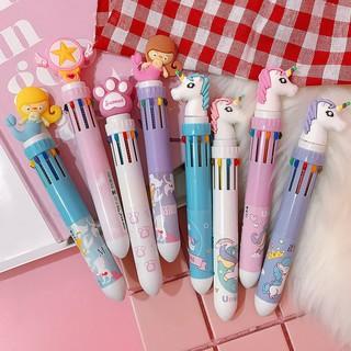 Bút bi nhiều màu kiểu dáng dễ thương cho học sinh thumbnail