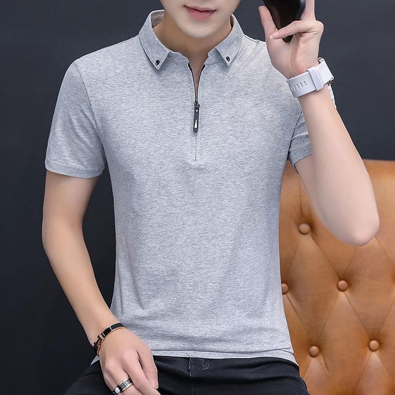 Áo thun polo nam tay ngắn có cổ thời trang phong cách Hàn Quốc