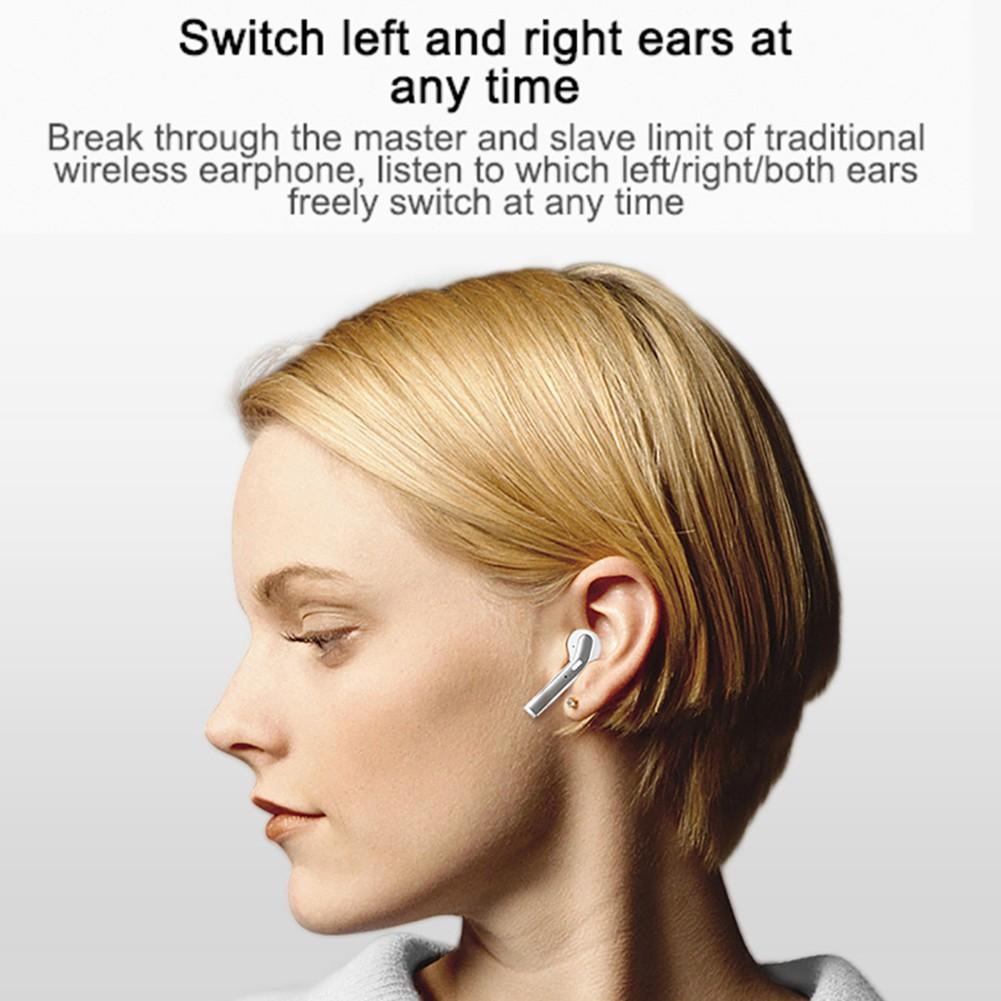H17T Mini Bluetooth 5.0 TWS Bass Âm thanh nổi Tai nghe không dây Tai nghe thể thao